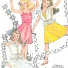 Girls Spring Summer Dress Sewing Pattern 7-8 Spaghetti Strap Overtop Jacket Vintage 9938