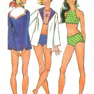 Halter Bikini Swimsuit Sewing Pattern 7/8 1972 Hippie Mod Vintage Cover-up Sailor Collar 5036