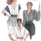 Extended Shoulder Dress Blouse Sewing Pattern Sz 8 Disco Kimono Sleeve Pleats Retro Mod 9494