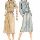 Shirt Dress Sewing Pattern Sz 12-16 Vintage Short Long Sleeve Knee Length Retro Mod Easy Belted 3651