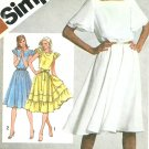 Rockabilly Dress Sewing Pattern Sz 12 Vtg Disco Square Dance Ruffle Flutter Sleeve 9869