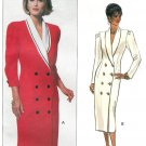 Double Breasted Dress Sewing Pattern 18-22 Plus Shawl Collar Semi Fitted Easy 6519