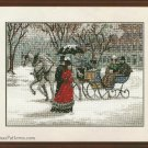 Winter Impressions Embroidery Needlepoint Kit Sunset Woman Man Carriage Snow Horses 16 x 12