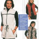 Unlined Vest Sewing Pattern Sz 8-22 Fleece Zipper Ski Snow Outerwear  Easy 9525