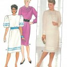 Pullover Dress Sewing Patterns Sz 12 Sheer Under Slip Retro Vintage Disco 6391