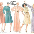 Vogue Sewing Pattern 70s Dress Sz 14 Knee Length Maxi Loose Saddle Shoulder 2741