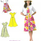 Spring Summer Dress Sewing Pattern 6-14 Cropped Bolero Jacket Knee Length Cap Or Sleeveless 1797