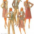 80s Wardrobe Sewing Pattern Plus 16 1/2 Pantsuit Jacket Gored Skirt Ascot Tie Blouse 7749