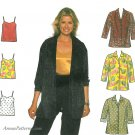 Oversize Shirt Camisole Sewing Pattern Plus 16-20 Easy Button Front Tank Top Long Overshirt 7883