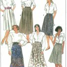 Plus Size Below Knee Skirt Sewing Pattern Easy Soft Pleats Gathers 80s 2 Lengths 14-18 9258