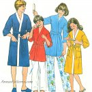 Unisex Child Kimono Robe Sewing Pattern Med 29-30 Easy Vintage 8120