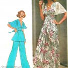 Flutter Sleeve Maxi Dress Sewing Pattern 12 Tunic Top Pants Raised Bodice Vintage 6710