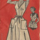 Anne Adams Apron Wrap Dress Sewing Pattern 12 Wrapron Jumper Easy 1952 Original 4803