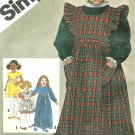 Girls Dress Pinafore Long Short Sz 3 Vintage Holiday Spring Two Lengths 9818
