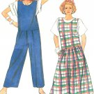 Jumper Jumpsuit Sewing Pattern 14/16 Easy Vintage Loose Sailor Boho Side Button Wide Leg 9044