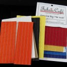 Chenille By the Inch Fabric Cafe Assorted Colors Yellow Orange Black Purple Blue