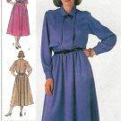 Button Front Dress Sewing Pattern 12 14 16 Below Knee Epaulettes Full Skirt 7083