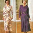 Belted Dress Sewing Pattern 18-22 Plus Peplum Long Sleeve Below Knee 3546
