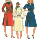 80s Belted Dress Sewing Pattern Disco 12 Button Short Long Sleeve Mandarin Collar Knee Length 7745