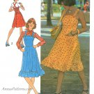Jumper Dress Sewing Pattern 9-12 Rockabilly 70s Overall Straps Fitted Bodice 6926