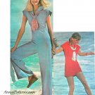 Sailor Jumpsuit Sewing Pattern Sz 12 Shorts Pants Nautical Beach Easy 70s Vintage 4980