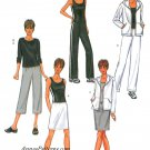 Casual Knit Clothing Sewing Pattern 12-16 Jacket Capris Skirt Tank Yoga Pants Exercise 3467