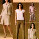 Misses Suit Jacket Skirt Pants Wardrobe Sewing Pattern 12-20 Business Career 4368