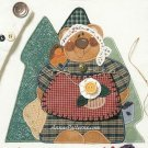 Black Bearry Applique Pattern Bear Woods Nature Rustic Lodge Trees Large 10 Inch