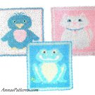 Kitty Cat Frog Bluebird Blanket Crochet Pattern Instructions Baby Child Nursery