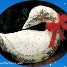 Christmas Goose Stamped Cross Stitch Kit Plush Stuffed Centerpiece Decor 8 x 11