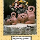 Plush Cat Sewing Pattern Great Catsby Stuffed Kitty Bunny 10 12 Inch Large