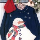 Snowman Applique Sweatshirt Sewing Pattern Winter Holiday Christmas Country Lodge Cabin