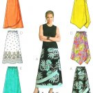 Easy Skirt Sewing Pattern 8-14 Elastic Waist Mock Wrap Handkerchief Shaped 4803