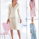 Misses Dress Suit Sewing Pattern Skirt Jacket 14-18 Button Front Collar 8616