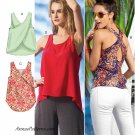 Loose Pullover Top Sewing Pattern 4-14 Sleeveless Criss Cross High Low Hem 6751