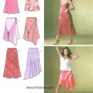 Bias Pull On Skirt Sewing Pattern 6-14 Scarf Hemline Flared Below Knee 4189