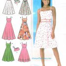 Sundress Sewing Pattern Spaghetti Strap Dress 6-12 Fitted Bodice Flared 4531