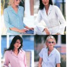 Womens Plus Fitted Shirt Sewing Pattern 14-18 Button Front Collar Short Long Sleeve 3284