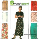 Mock Wrap Skirt Sewing Pattern Plus 18-20-22 Sarong Easy 2 Lengths 7525