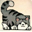 Cat Door Stop DoorStop Plastic Canvas Kit Needlecraft Bucilla