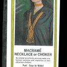 Macrame Knot Necklace Choker Kit Vintage 1971 Funky Hippie Jewelry