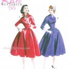 50s Retro Dress Sewing Pattern Plus 16-22 Full Skirt 3/4 Sleeve Fitted Bust 5556