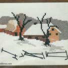 Quiet Winter Counted Cross Stitch Kit Snow Barn Farm 5 x 7 Red Heart