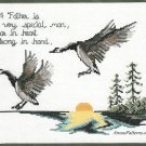 Flying Geese Counted Cross Stitch Kit Janlynn Vintage Father Sunset Aida 12 x 9