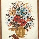 Dimensions Crewel Embroidery Kit Blue Rust Bouquet Flowers Fall 16 x 20