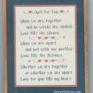 Just For You Stamped Cross Stitch Kit Love Togetherness 12 x 16 Vintage Patty Ann Creations