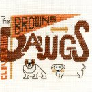 Dawgs Cleveland Browns Cross Stitch Kit NFL Football 4 x 6