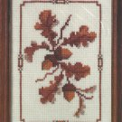 Creative Circle Acorn Cross Stitch Kit Fall Nature Vintage Aida 5 x 7 Sealed