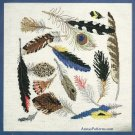 Native Indian Natures Peacock Bird Feathers Plumes Cross Stitch Kit Wall Hanging 14 x 14