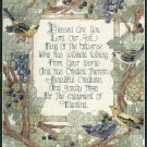 Blessed Are You Prayer Cross Stitch Kit Bucilla 11 x 14 Aida Religious God Faith Grapevine Bird